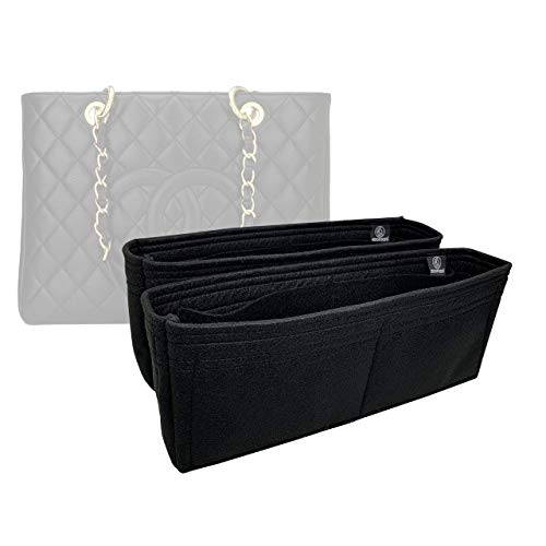 Zoomoni Chanel GST (Grand Shopping Tote) Medium Purse Insert Organizer - Premium Felt (Handmade/20 Colors)