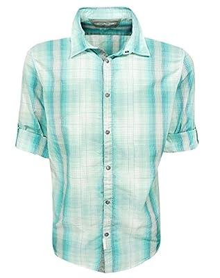Calvin Klein Long Sleeve Ladder Plaid Woven Shirt