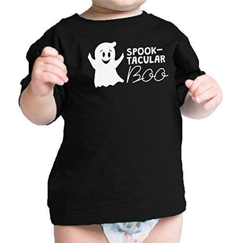365 Printing Spook-Tacular Boo Babys Halloween Outfit Cute Baby Tee Shirt Black]()