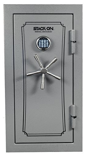 Stack-On TD-040-GP-E Total Defense Executive Safe with Electronic Lock, Gray Pebble