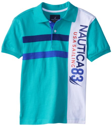Nautica Boys 8-20 Pique Fashion Polo, Light Jade, Medium