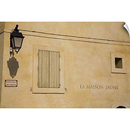 CANVAS ON DEMAND Wall Peel Wall Art Print Entitled Street Scene, Arles, Provence, France 18