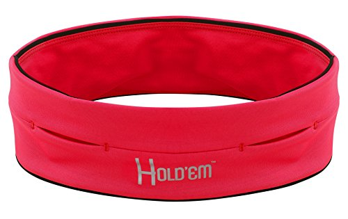 World Best Premium Hold'Em Running Belt for Men, Women, & Youth, Unique Pockets to Hold all iPhone, iPod, Wallet, Keys, etc. Endure a Lifetime Use for hikers, or any Other Type of Exercising!-red S (Feel Ipod)
