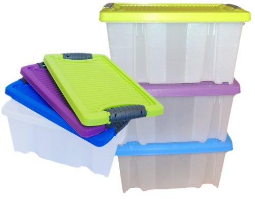 LS 3 Stapelboxen Allzweckkiste Allzweckbox Box Kiste Aufbewahrungsbox Kunststoffbox