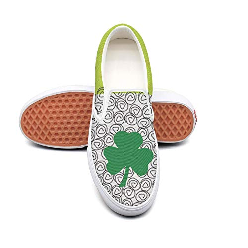 - St. Patrick's Day clover sheep white Basketball Sneakers for Men Low Top Comfortable and Lightweight Running Shoes