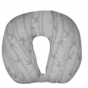 Bamboo Luxury Neck Memory Foam Pillow-Hypoallergenic Neck Pillow for Travel and Neck Support for Sleeping-Best Travel Neck Pillow with Cool Pillow Comfort Supporting Neck Pain-No Chemical Smell