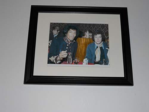"Framed Jimi Hendrix/Eric Calpton 1966 at Dinner Table Guitar Gods 14"" x 17"""