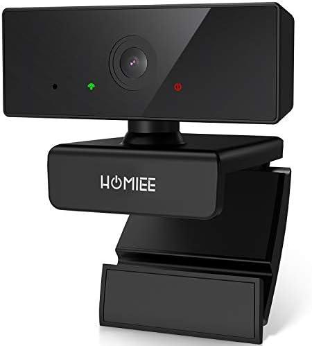 HOMIEE 1080P HD Webcam met microfoon 110 Groothoek PCwebcam Plug and Play USB Webcam Compatibel met WindowsAndroidLINUXMacYouTube voor Videogesprekken Online studie Gaming