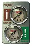 NEW SOUTHWEST SPEED RACING LIQUID FILLED DUAL MINI-BRAKE GAUGE PANEL, 0-1500 PSI WITH 1 1/2'' FRONT & REAR GAUGES, MODIFIED, LATE MODEL, STREET STOCK, FACTORY STOCK, GRAND NATIONAL, PURE STOCK, MINI STOCK, DWARF CAR, LEGENDS