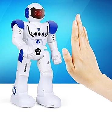 Hi-Tech Wireless Remote Control Robot Kids RC Robot Toy Senses Gesture, Sings, Dances for Boys, Girls, Kids, Children (Abbott)