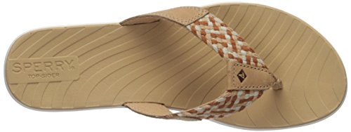 Flat Sperry Us Women's 5 5 Sandal Swell Seabrook Medium Tan FtZwxqat