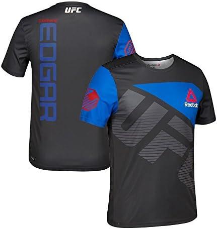 Adidas Frankie Edgar UFC Reebok Black Royal Fight Kit Walkout Jersey Herren