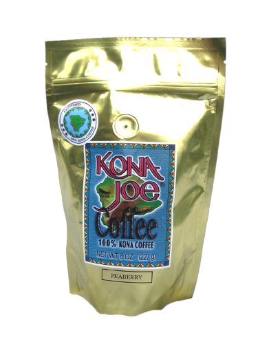 Kona Joe Coffee Peaberry, Whole Bean, 8-Ounce Bag