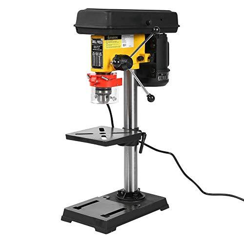 Adjustable Bench Drill, 110V 500W 9 Grade Speed Adjustment Industrial Bench Drill US Plug