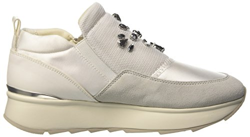 Geox Gendry A, Sneakers Basses Femme Blanc Cassé (Off White)