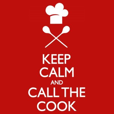 Sudadera con capucha de mujer Keep Calm And Call The Cook by Shirtcity Rojo