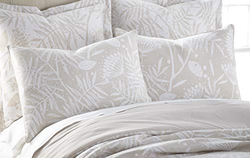 Levtex Home Citronia Standard Sham, Leaves, Front: 100% Cotton Yarn Dyed Jacquard; Back: 100% Cotton Eurocale, Beige ()