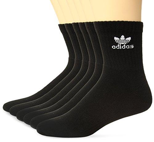 adidas Mens Originals Cushioned 6-Pack Quarter Socks