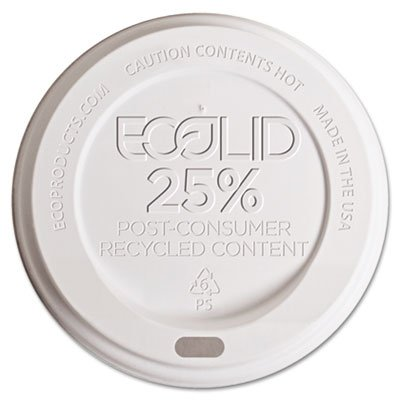 LID,RECYCLED HOT CUP,WH