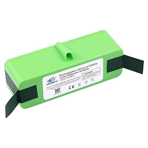 MELASTA 14.8V 5200mAh Lithium ion Battery Replacement for iRobot Roomba 980 690 985 960 890 655 650 770 805 870 880 595 550 900 800 700 600 500 Series (UL&CE Certification Battery Cells)