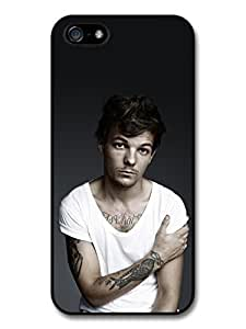 Louis Tomlinson White T-Shirt Tatoo 1D One Direction Case For Iphone 6 Plus 5.5 Inch Cover