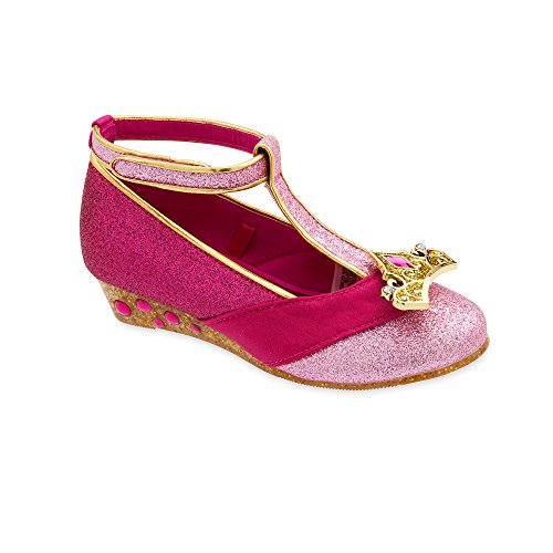 Disney Aurora Costume Shoes for Kids - Sleeping Beauty Size 9/10 YTH Pink -