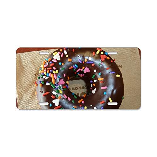 - BIKKI Chocolate Doughnut Chrome License Plate Frame Stainless Steel, Polished License Plate Stainless License Plate Screws Kit to Fit Any Vehicles' License Plate Frames