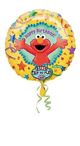 - Elmo Happy Birthday Singing Balloon 28in. Pkg/1