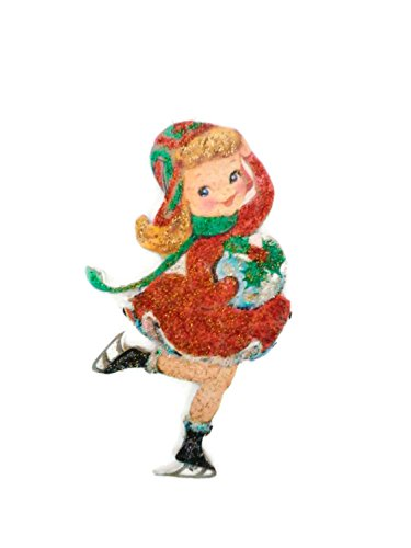 (Christmas Tree Ornament Decoration Holiday Ice Skate Girl)