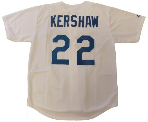 - Clayton Kershaw Autographed Los Angeles Dodgers White Jersey W/PROOF, Picture of Clayton Signing For Us, Los Angeles Dodgers, Cy Young Award, Star Pitcher