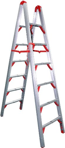 Telesteps 700FLD OSHA Compliant 7 ft Double sided folding step ladder (STIK) ()
