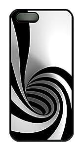 iPhone 5 5S Case Patterns Black White PC Custom iPhone 5 5S Case Cover Black