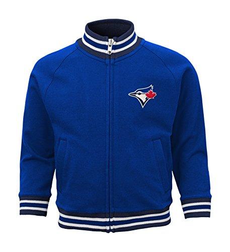 (MLB Toronto Blue Jays Boys 4-7 Baseball Run Track Jacket-L (7), Deep Royal)