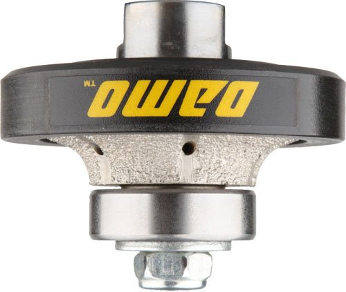 (DAMO 3/8 inch Demi Bullnose Half Bullnose Roundover Coarse Diamond Hand Profiler Router Bit Profile Wheel with 5/8-11 Thread for Granite Concrete Marble Countertop Edge)