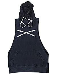 "<span class=""a-offscreen"">[Sponsored]</span>Mens Sleeveless Muscle Hoodie 