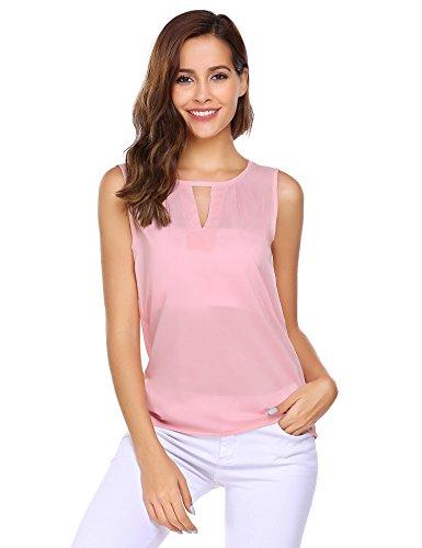 Pink Sleeveless Blouse - 1