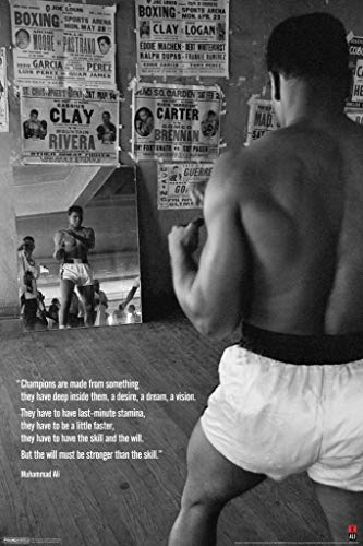 - Pyramid America Laminated Muhammad Ali Gym Champions Quote Sign Poster 12x18 inch