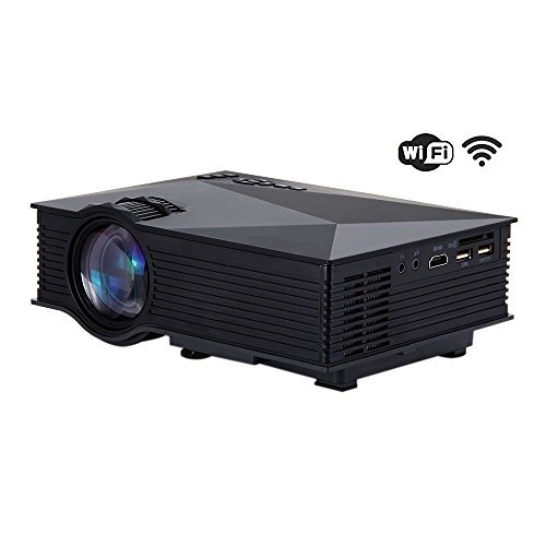 FastFox Mini WIFI Projector UC46 800 Lumen 800x480 Resolution Video Beamer support VGA AV TF USB HDMI OEM Projectors FP8048T2-IV5