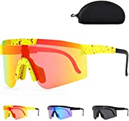 Polarized Sunglasses, UV400 Cycling Glasses for Men Women Sports Sunglasses