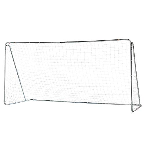 Franklin Sports Competition Steel Soccer Goal, 12 X 6 Foot, Silver