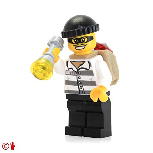 (LEGO City Minifigure: Police - Jail Prisoner 86753 (with Flashlight and Mask) 60063)