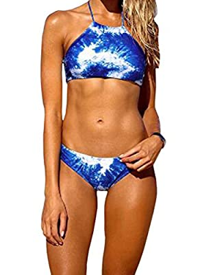 Vintagerose Push Up Swimsuit Tie Dye Swimwear Pin Up Padded Bikini Sets