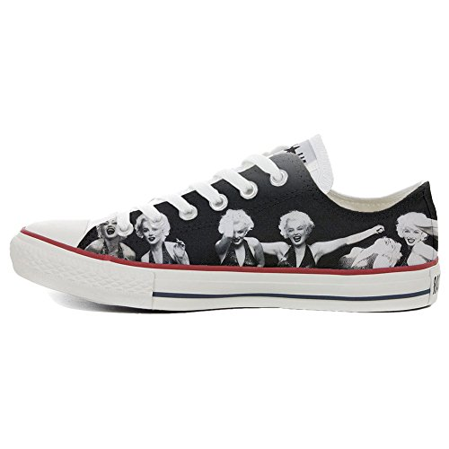 Converse All Star Slim Personnalisé et Imprimés chaussures coutume, Sneaker Unisex (produit Italien artisanal) Low Marilyn 30%OFF