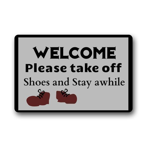 (HOOAL Please Remove Your Shoes Don't Take Better Ones On Your Way Out Funny Door Mat Indoor/Outdoor Rubber Non Slip Doormat for Patio Front Door 23.6 x 15.7)