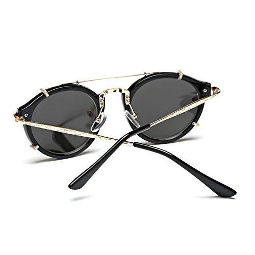Unisex AC Libre Lente Retro Gafas Sol Negro Aviador Al UV400 Gafas De Moda Aire rHXAwrq