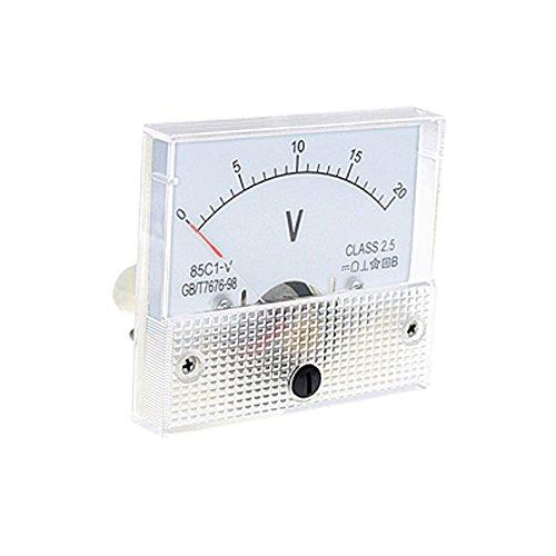 Tenflyer DC 0 ~ 20V 85C1-V Clase 2.5 Voltí metro analó gico metro del panel Volt 23203-uk1