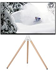 EleTab Artistic Easel 45 to 65 inches LED LCD Screen Tripod TV Display Stand | Adjustable TV Mount with Swivel and Tripod Base