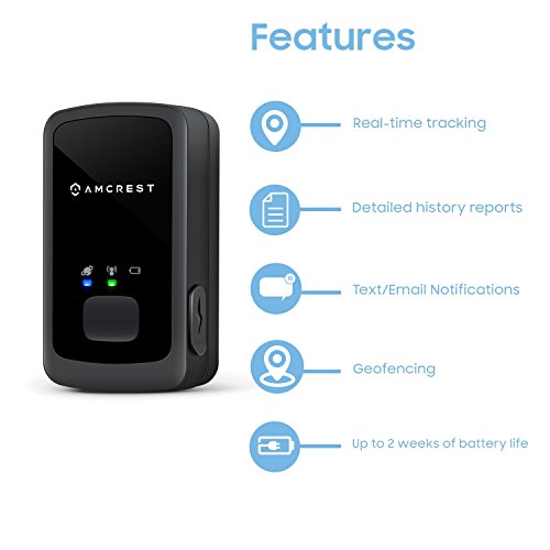 Amcrest AM-GL300 V3 Portable Mini Real-Time GPS Tracker for Vehicles, Cars, Kids, Persons, Assets - Hidden Tracking Device with Unlimited Text/Email Alerts, Geo-Fencing, 10-14 Day Battery, No Contract by Amcrest (Image #1)