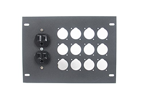 Elite Core FBL-PLATE-12+AC Plate for FBL Floor Box With AC Duplex - no connectors by Elite Core (Image #1)