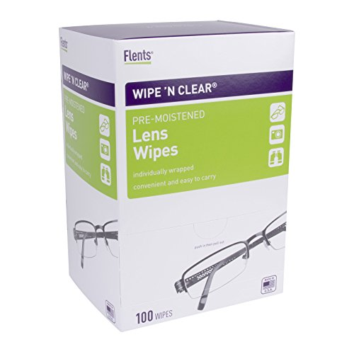 Flents Wipe N Clear Lens Cleaning Wipes (100 Count) (Lens Wipes Clear Cleaning)